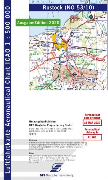 ICAO-Karte, Blatt Rostock (Ausgabe 2020), Motorflug 1:500.000