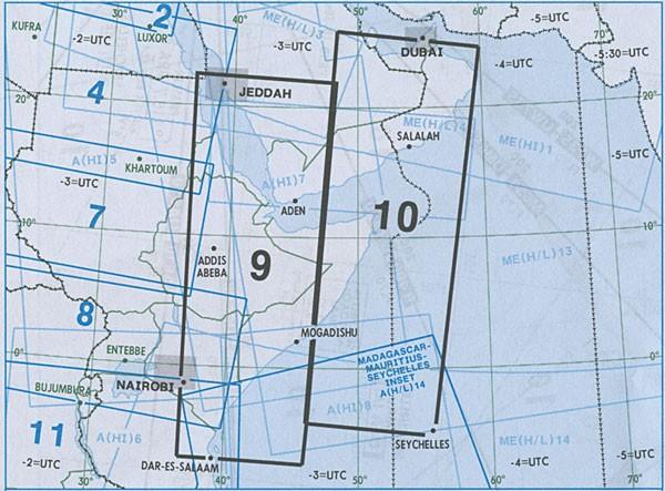 IFR-Streckenkarte Africa - Oberer/Unterer Luftraum - A(H/L) 9/10