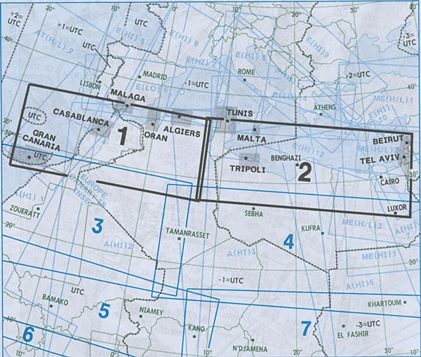 IFR-Streckenkarte Africa - Oberer/Unterer Luftraum - A(H/L) 1/2