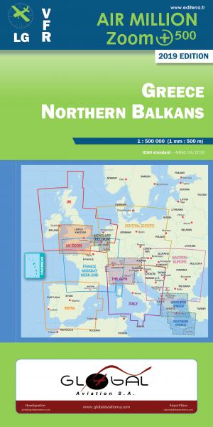 AIR MILLION: VFR-Zoom-Karte Greece / Northern Balkans 1:500.000