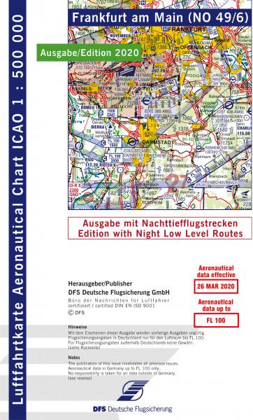 ICAO-Karte, Blatt Frankfurt (Ausgabe 2020), Nachttiefflugstrecken 1:500.000