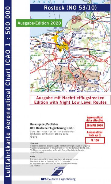 ICAO-Karte, Blatt Rostock (Ausgabe 2020), Nachttiefflugstrecken 1:500.000
