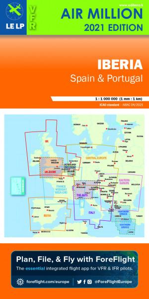 AIR MILLION: VFR-Karte Iberia 1:1.000.000