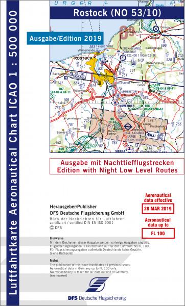 ICAO-Karte, Blatt Rostock (Ausgabe 2019), Nachttiefflugstrecken 1:500.000
