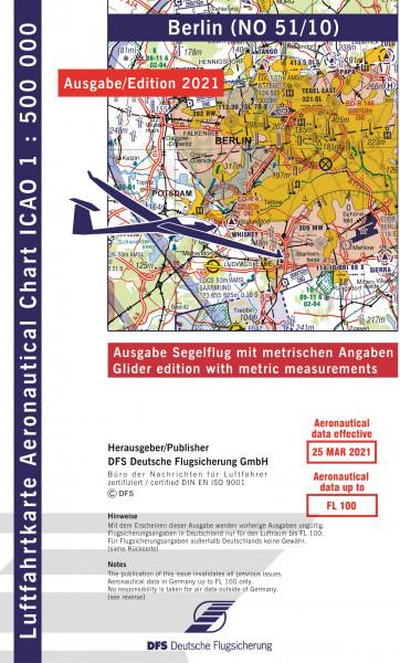 ICAO-Karte, Blatt Berlin (Ausgabe 2021, Segelflug 1:500.000