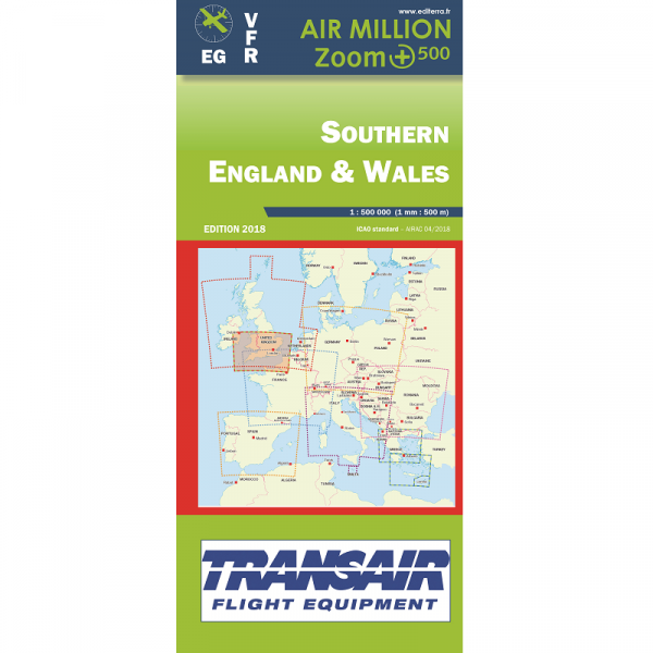 AIR MILLION: VFR-Zoom-Karte Southern England & Wales 1:500.000