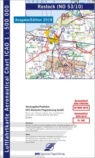 ICAO-Karte, Blatt Rostock (Ausgabe 2019), Motorflug 1:500.000