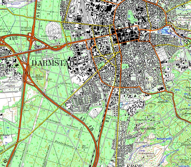 Topographische Karte Thüringen.Flight Planner Topographische Karte Thüringen