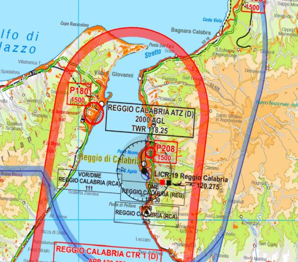 Aerotouring VFR Flight Chart - Italy für Flight Planner