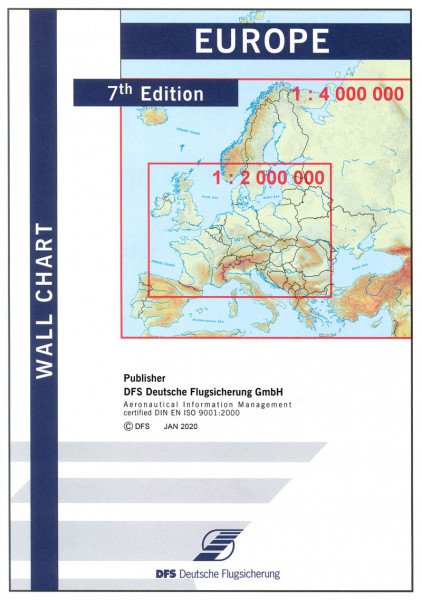 Europe Wall Chart, 7th Edition