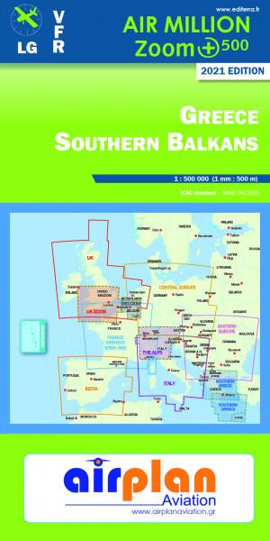 AIR MILLION: VFR-Zoom-Karte Greece / Southern Balkans 1:500.000