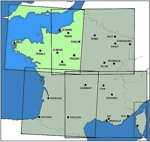 ICAO-Karte Frankreich: Nordost 2021