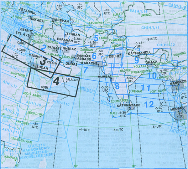 IFR-Streckenkarte Middle East - Oberer/Unterer Luftraum - ME(H/L) 3/4