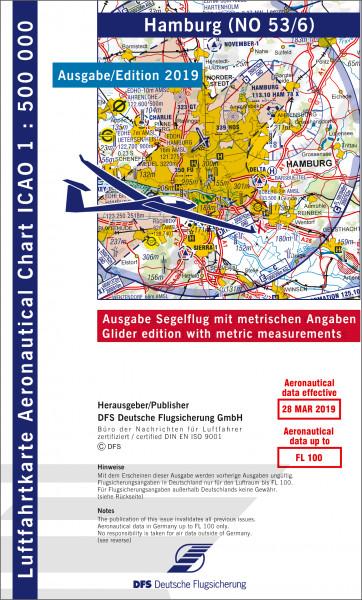 ICAO-Karte, Blatt Hamburg (Ausgabe 2019), Segelflug 1:500.000