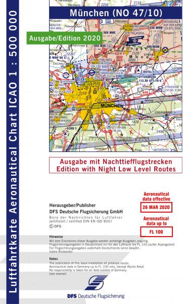 ICAO-Karte, Blatt München (Ausgabe 2020), Nachttiefflugstrecken 1:500.000