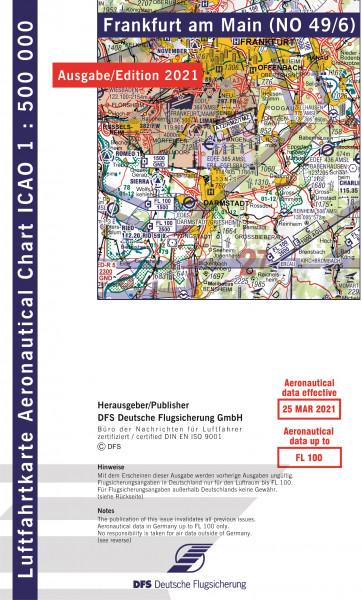 ICAO-Karte, Blatt Frankfurt (Ausgabe 2021), Motorflug 1:500.000