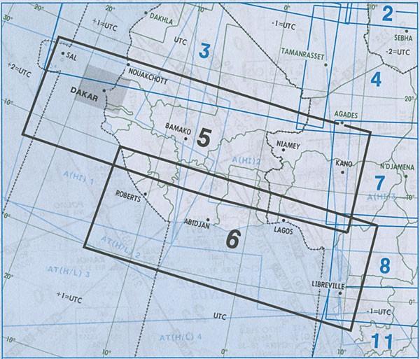 IFR-Streckenkarte Africa - Oberer/Unterer Luftraum - A(H/L) 5/6