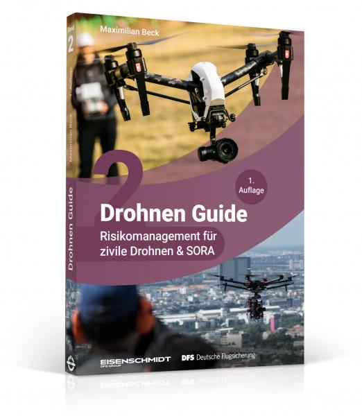 Drohnen Guide: Band 2, Risikomanagement für zivile Drohnen & SORA, 3D-Cover, Drohnenpilot