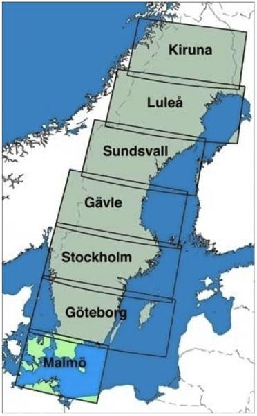 ICAO-Karte Schweden: Malmö (Ausgabe 2019)