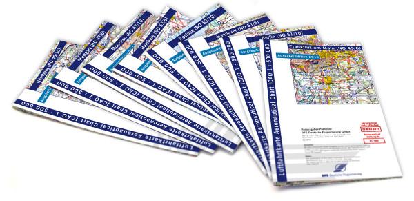 ICAO-Karten-Set Deutschland 1:500.000, Komplettsatz, 8 Blatt (Ausgabe 2019)