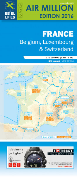 AIR MILLION: VFR-Karte France 1:1.000.000