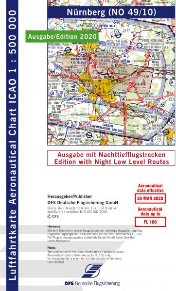 ICAO-Karte, Blatt Nürnberg (Ausgabe 2020), Nachttiefflugstrecken 1:500.000