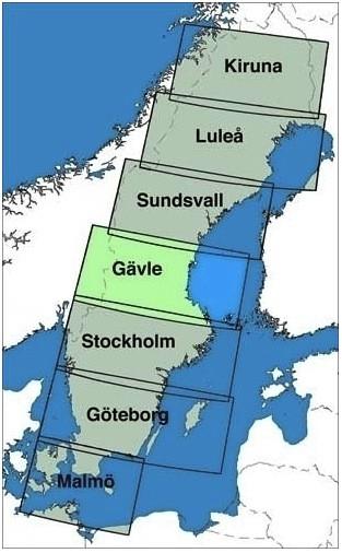 ICAO-Karte Schweden: Gävle (Ausgabe 2018)