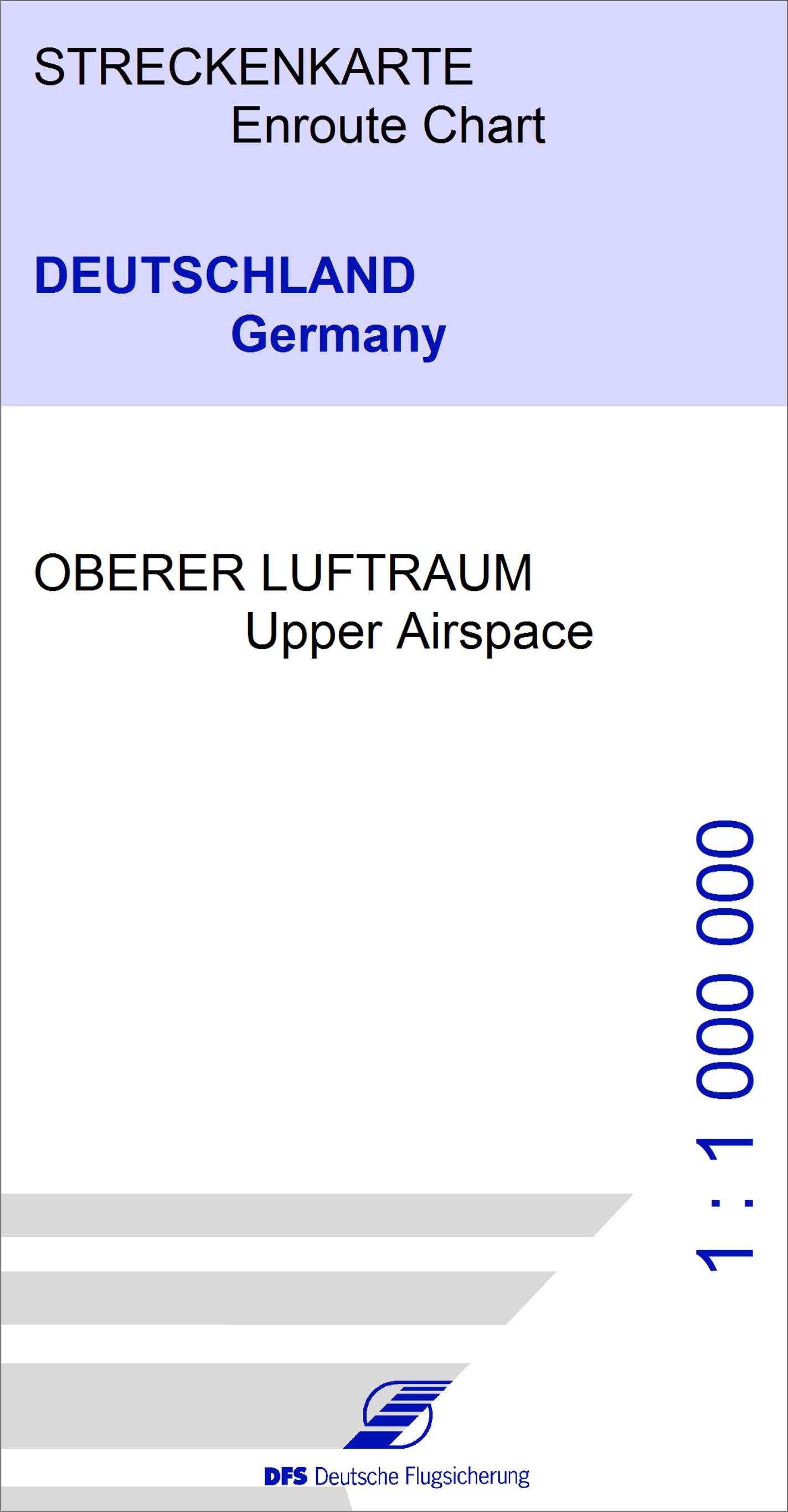 Ifr Streckenkarte Oberer Unterer Luftraum Mit Fis Gebieten