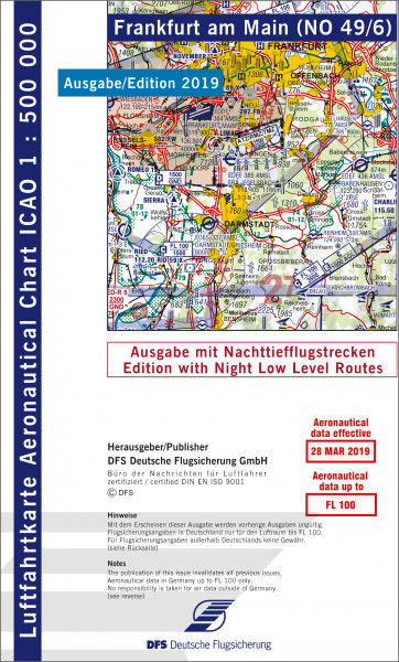 ICAO-Karte, Blatt Frankfurt (Ausgabe 2019), Nachttiefflugstrecken 1:500.000