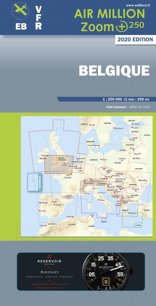 AIR MILLION: VFR-Zoom-Karte Belgique 1:250.000