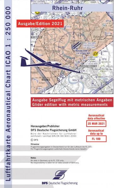 ICAO-Karte, Blatt Rhein-Ruhr (Ausgabe 2021), Segelflug 1:250.000
