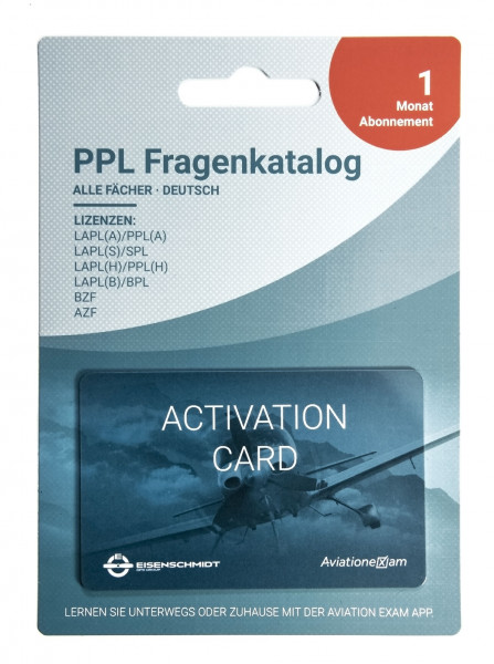 PPL Fragenkatalog Produktkarte 1 Monat Abonnement