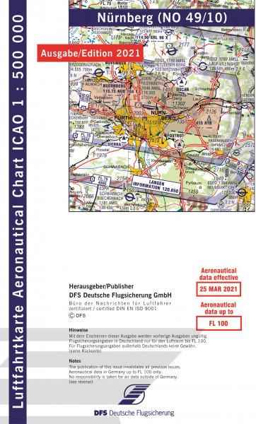 ICAO-Karte, Blatt Nürnberg (Ausgabe 2021), Motorflug 1:500.000
