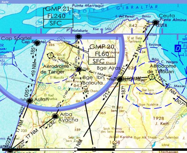 Flight Planner - ICAO-Karte - Marokko