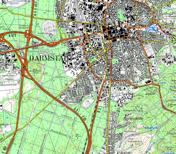 Flight Planner - Topographische Karte - Hessen