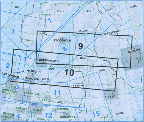 E(LO) 9/10 IFR-Streckenkarte Europe - Unterer Luftraum