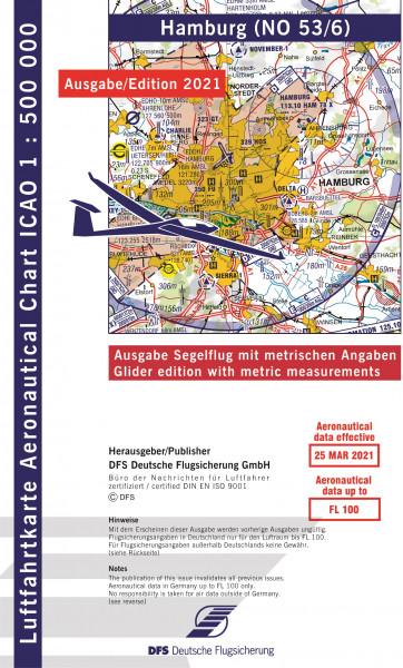 ICAO-Karte, Blatt Hamburg (Ausgabe 2021), Segelflug 1:500.000