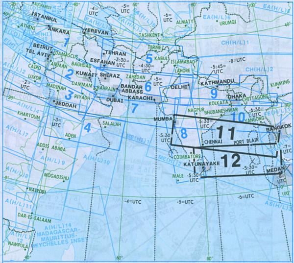IFR-Streckenkarte Middle East - Oberer/Unterer Luftraum - ME(H/L) 11/12
