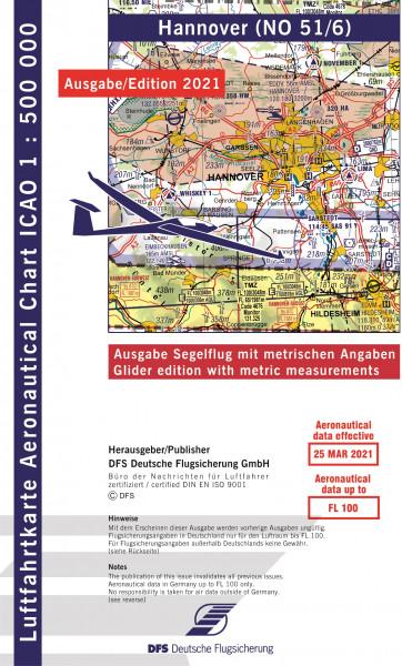 ICAO-Karte, Blatt Hannover (Ausgabe 2021), Segelflug 1:500.000