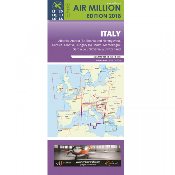 AIR MILLION: VFR-Karte Italy 1:1.000.000