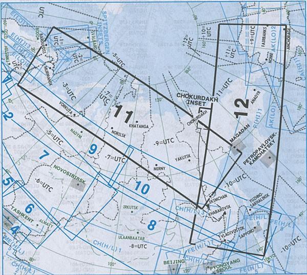 IFR-Streckenkarte Eurasia - Oberer/Unterer Luftraum - EA(H/L) 11/12