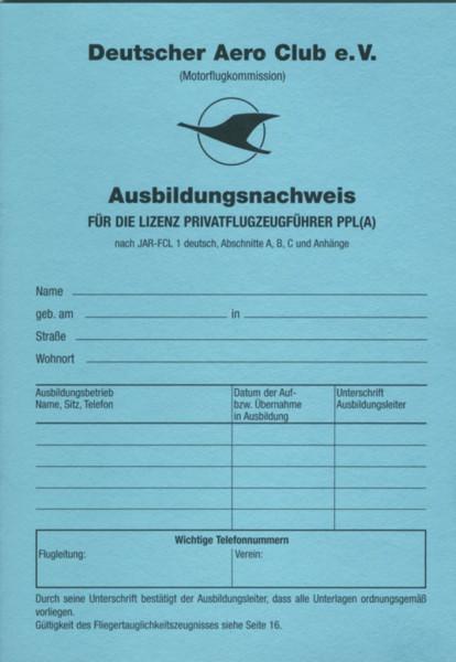 Ausbildungsnachweis - Privatflugzeugführer PPL(A)