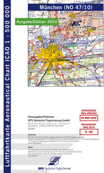 ICAO-Karte, Blatt München (Ausgabe 2020), Motorflug 1:500.000