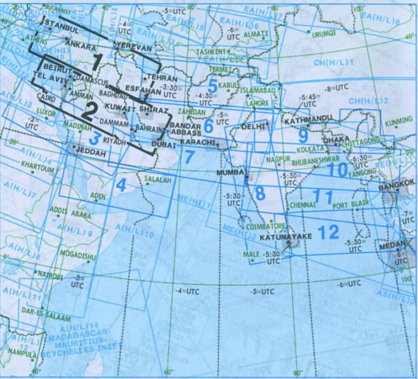 IFR-Streckenkarte Middle East - Oberer/Unterer Luftraum - ME(H/L) 1/2