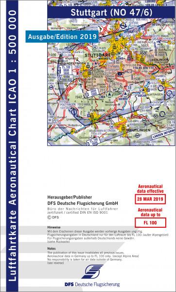 ICAO-Karte, Blatt Stuttgart (Ausgabe 2019), Motorflug 1:500.000
