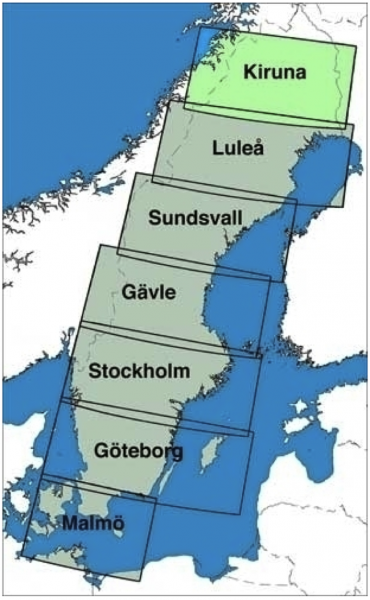 ICAO-Karte Schweden: Kiruna (Ausgabe 2019)