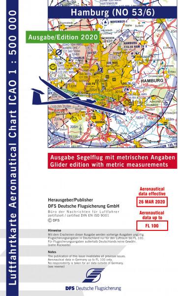 ICAO-Karte, Blatt Hamburg (Ausgabe 2020), Segelflug 1:500.000