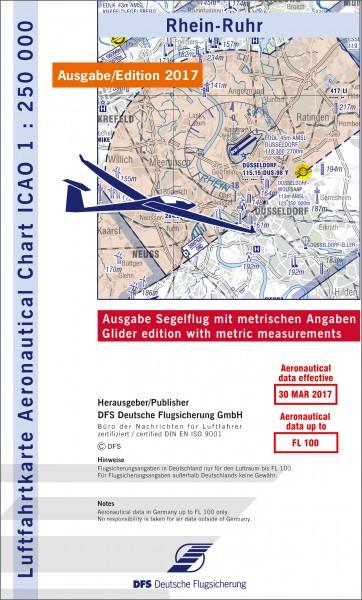 ICAO-Karte, Blatt Rhein-Ruhr (Ausgabe 2017), Segelflug 1:250.000