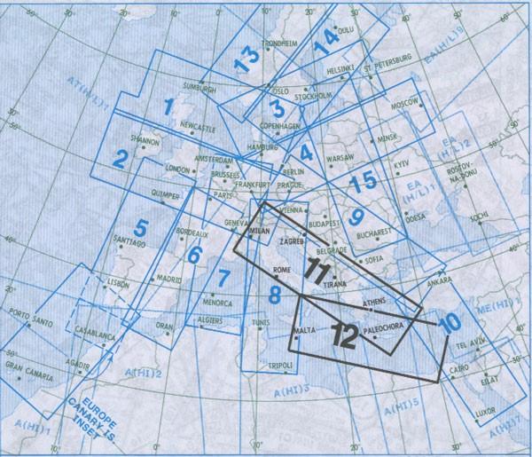 IFR-Streckenkarte - Oberer Luftraum E(HI) 11/12