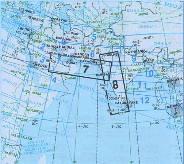 IFR-Streckenkarte Middle East - Oberer/Unterer Luftraum - ME(H/L) 7/8